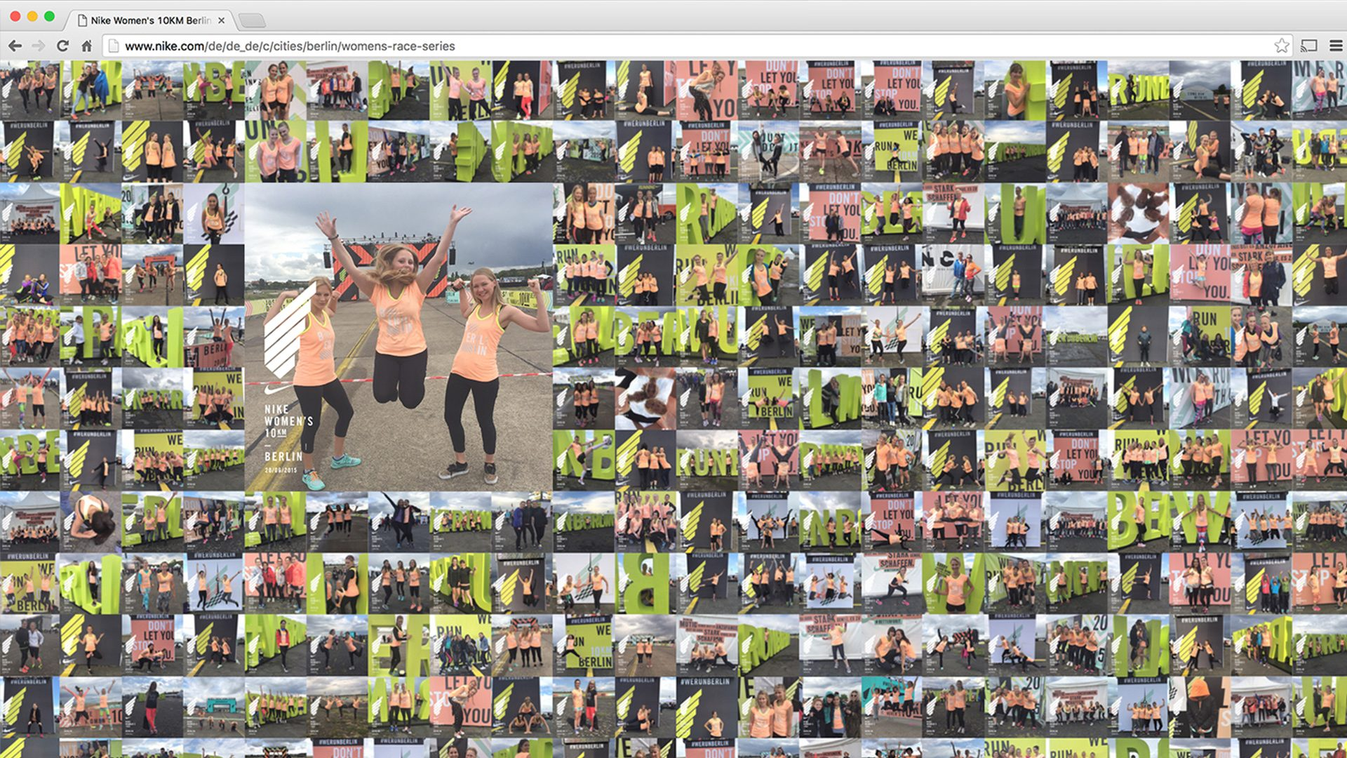 Instant access to the captured photos with the athletes starting number