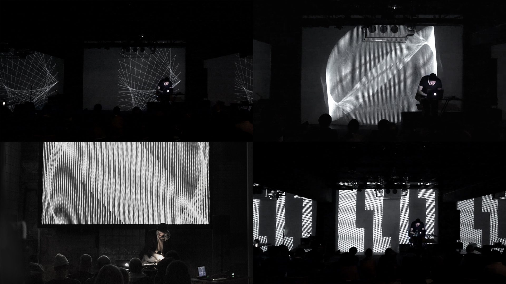 Zwölftonform as an audio-visual performance (Photos and video by Christian Werner)