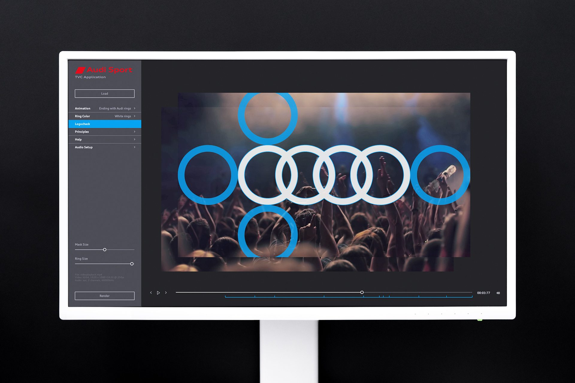 Logo ending with Audi rings