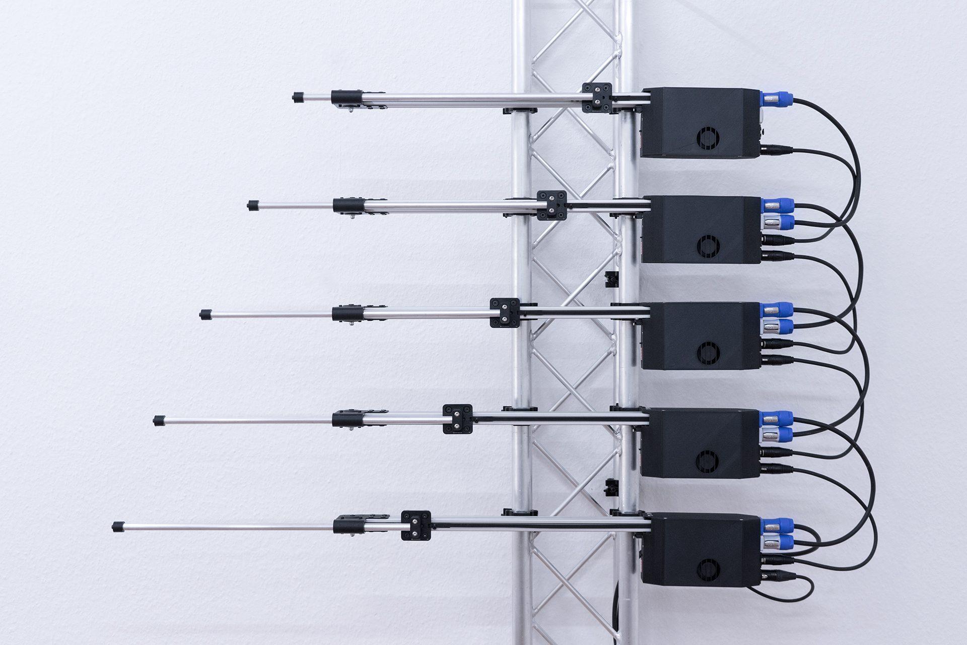 DMX Linear Actuator (20 — 200cm length, 0.1 — 3kg push / pull, 0.1 — 30cm/s speed, 2 — 4 DMX channels, 230/110 VAC)